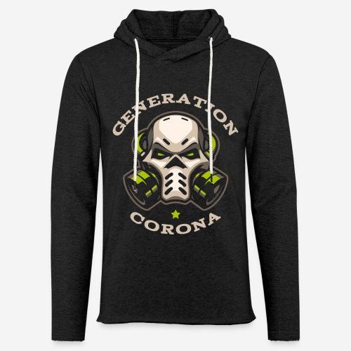 corona generation covid - Leichtes Kapuzensweatshirt Unisex