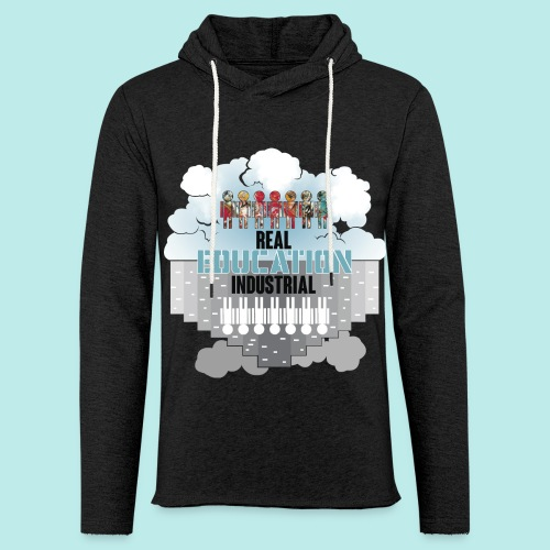 Real Education vs. Industrial Education - Sudadera ligera unisex con capucha