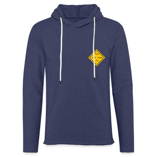 WINDFOIL zone logo new smaller - Light Unisex Sweatshirt Hoodie
