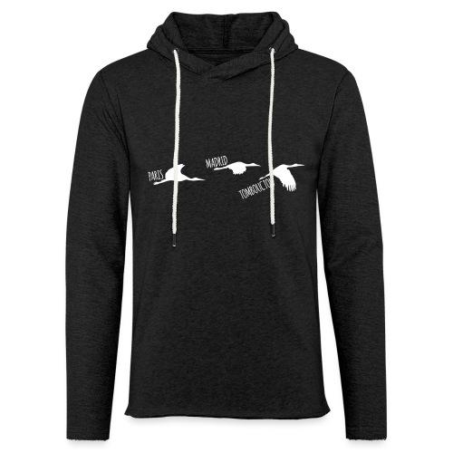 3 horizons oiseaux white - Sweat-shirt à capuche léger unisexe