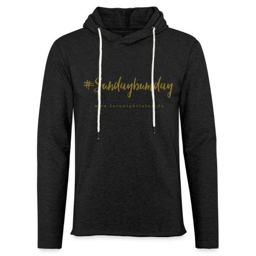 #Sundaybumday - GOLD - Leichtes Kapuzensweatshirt Unisex