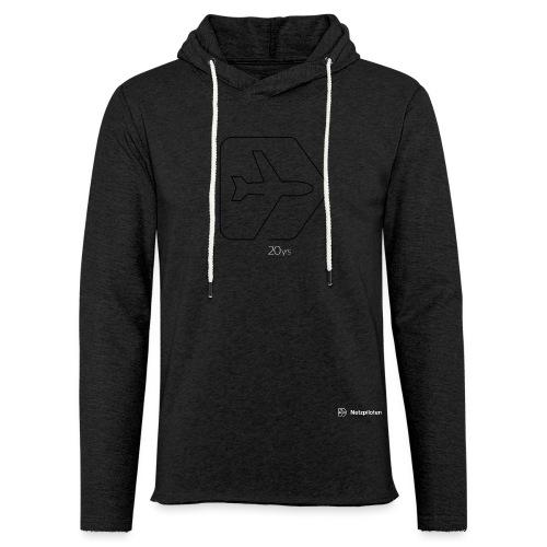 Netzpiloten Logo weiss - Leichtes Kapuzensweatshirt Unisex