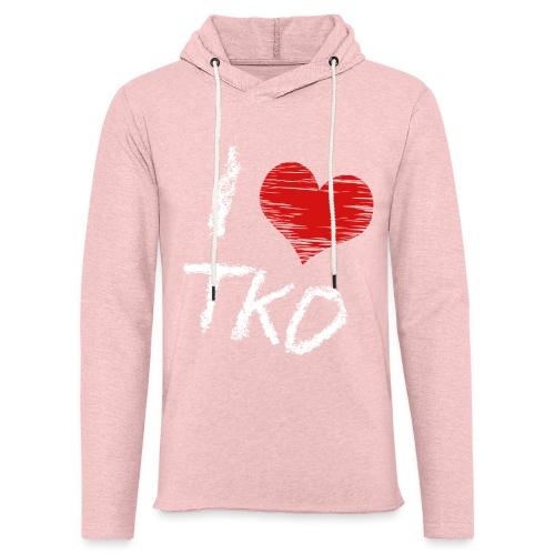 I love tkd letras blancas - Sudadera ligera unisex con capucha