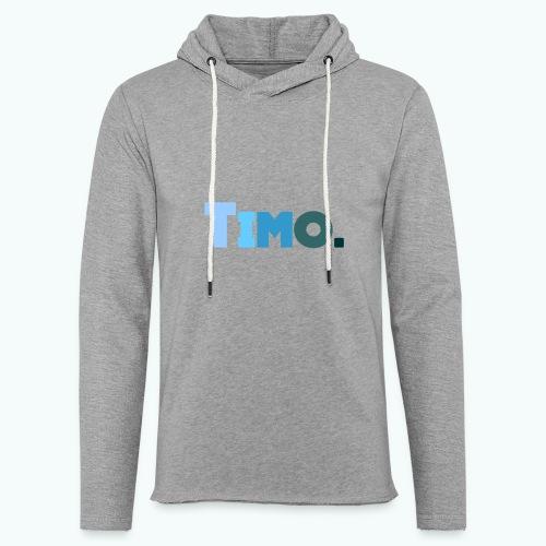 Timo in blauwe tinten - Lichte hoodie unisex