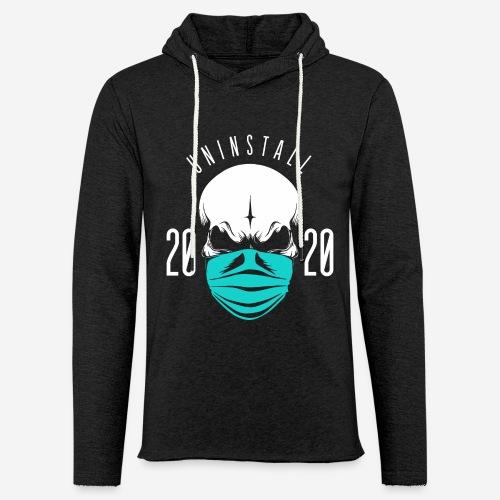 2020 deinstallieren - Leichtes Kapuzensweatshirt Unisex