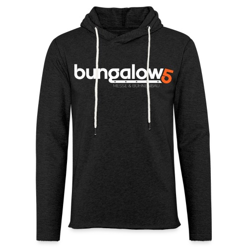 logo bungalow5 2016 over - Leichtes Kapuzensweatshirt Unisex