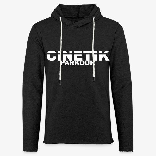 Cinetik typo blanche - Sweat-shirt à capuche léger unisexe