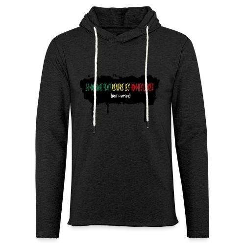 citation marley - Sweat-shirt à capuche léger unisexe