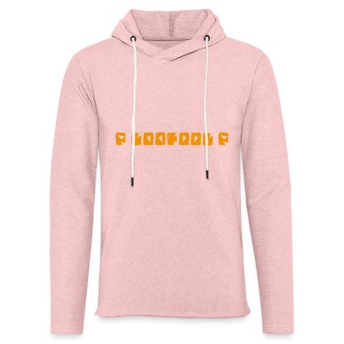P loofool P - Orange logo - Lett unisex hette-sweatshirt