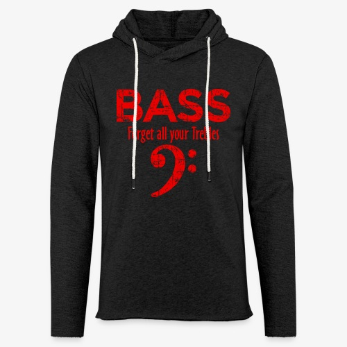 BASS Forget all your trebles (Vintage/Rot) - Leichtes Kapuzensweatshirt Unisex