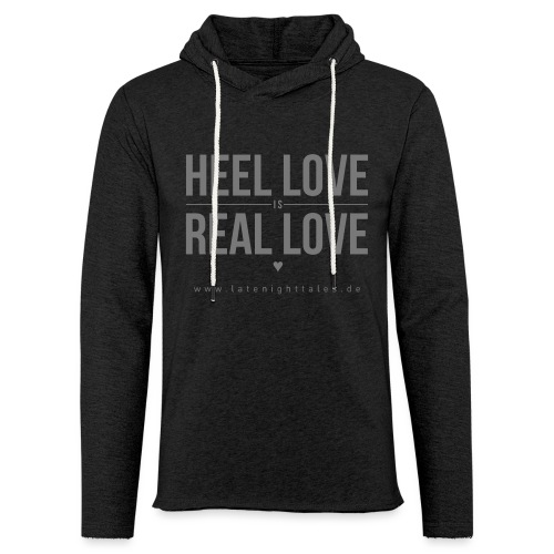 Heel Love is Real Love <3 - GREY - Leichtes Kapuzensweatshirt Unisex