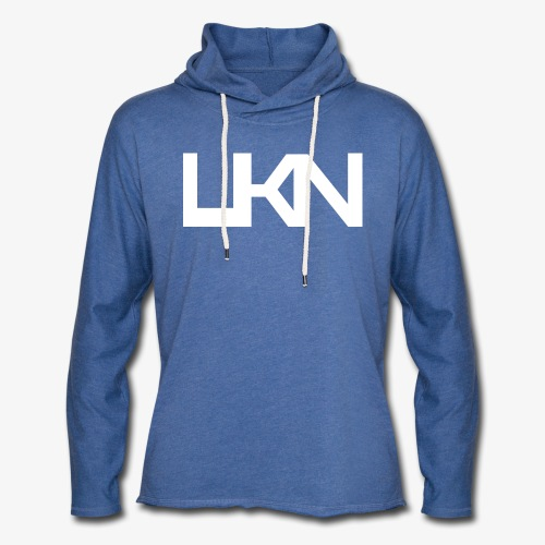UKN Just White Text - Light Unisex Sweatshirt Hoodie