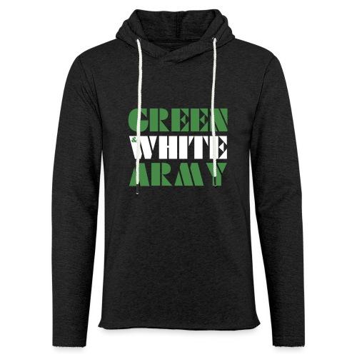 GREEN & WHITE ARMY - Light Unisex Sweatshirt Hoodie