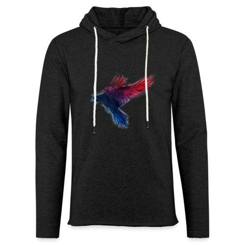 Watercolor Raven - Leichtes Kapuzensweatshirt Unisex