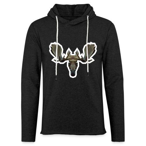Low Poly Moosehead - Lichte hoodie unisex