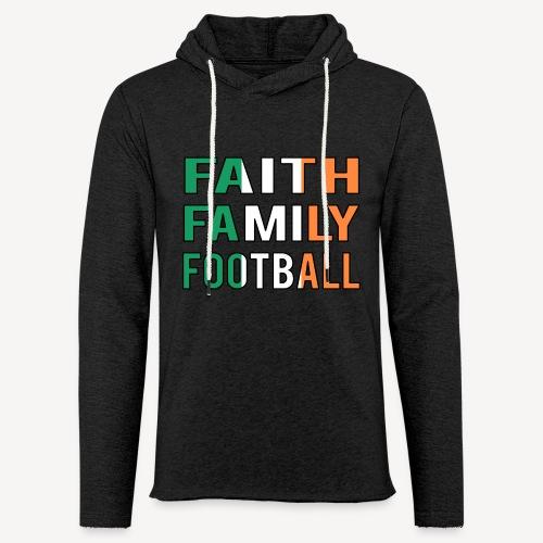 FAITH FAMILY FOOTBALL - Light Unisex Sweatshirt Hoodie