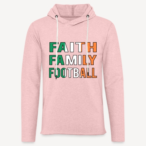 FAITH FAMILY FOOTBALL - Light Unisex Sweatshirt Hoodie