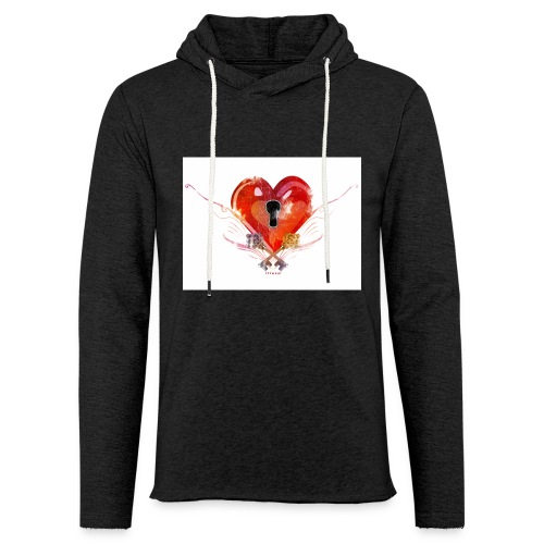 stvalentinmotif2 - Sweat-shirt à capuche léger unisexe
