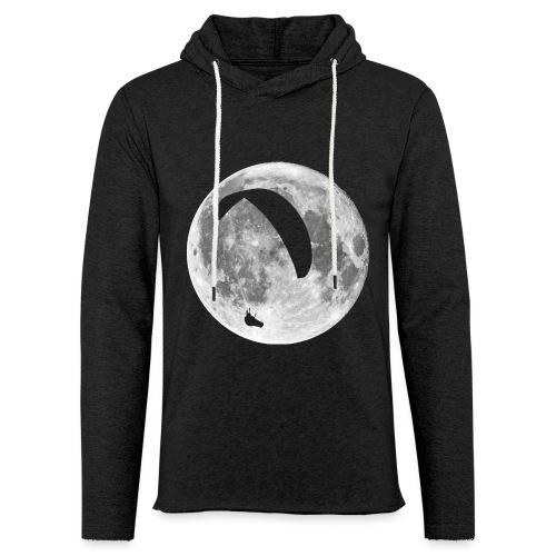Paragleiter im Mond - Leichtes Kapuzensweatshirt Unisex
