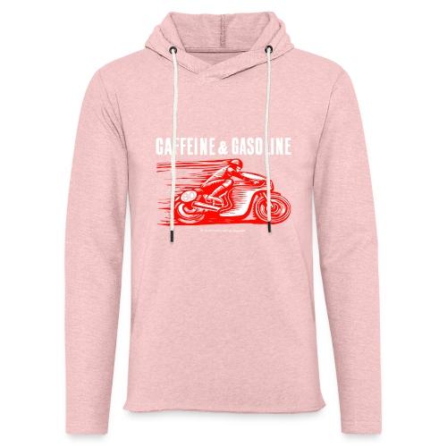 Caffeine & Gasoline white text - Light Unisex Sweatshirt Hoodie