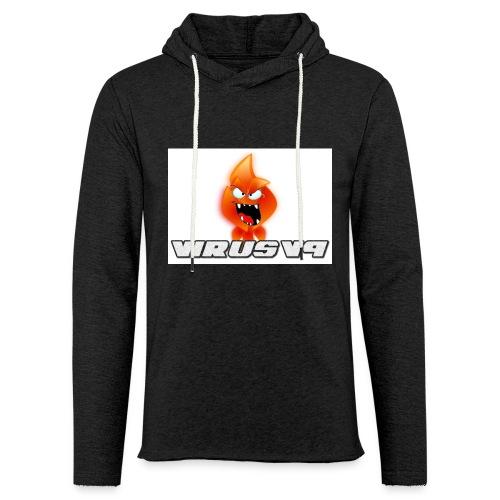 Virusv9 Weiss - Leichtes Kapuzensweatshirt Unisex
