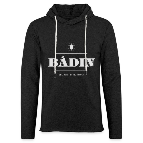 Bådin - black - Lett unisex hette-sweatshirt