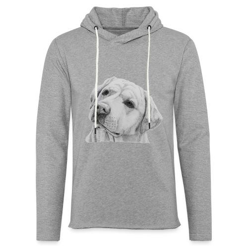 labrador retriever yellow - head - Let sweatshirt med hætte, unisex