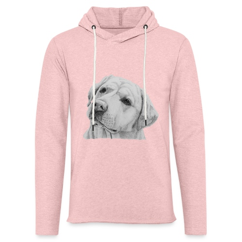 labrador retriever yellow - head - Let sweatshirt med hætte, unisex