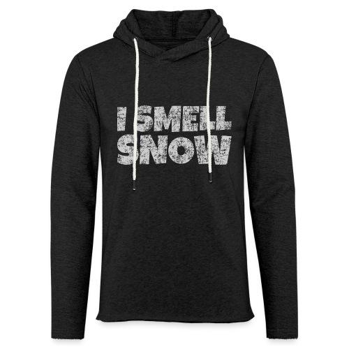 I Smell Snow (Grau) Schnee, Winter, Wintersport - Leichtes Kapuzensweatshirt Unisex