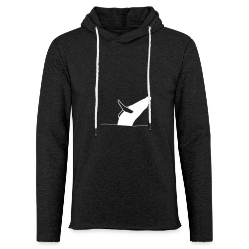 Jumping whale - white - Leichtes Kapuzensweatshirt Unisex