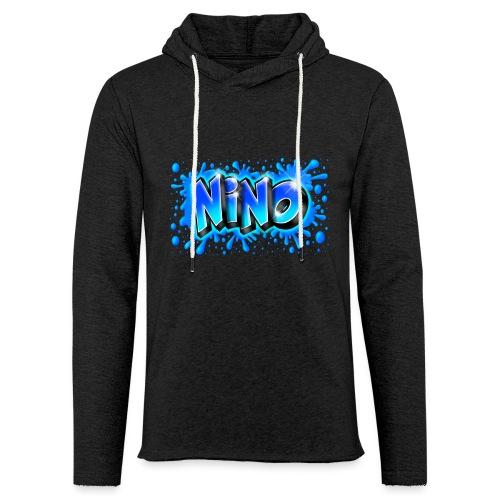 Graffiti NINO splash blue - Sweat-shirt à capuche léger unisexe