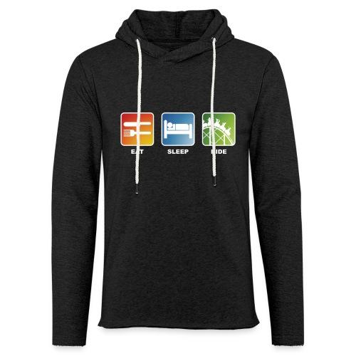 Eat, Sleep, Ride! - T-Shirt Schwarz - Leichtes Kapuzensweatshirt Unisex