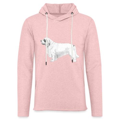 clumber spaniel - Let sweatshirt med hætte, unisex