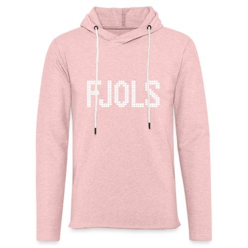 FJOLS med hvid tekst - Let sweatshirt med hætte, unisex