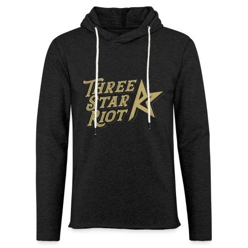 Three Star Riot logo väri - Kevyt unisex-huppari