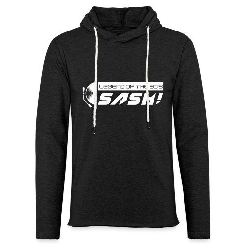 DJ SASH! Turntable Logo - Light Unisex Sweatshirt Hoodie