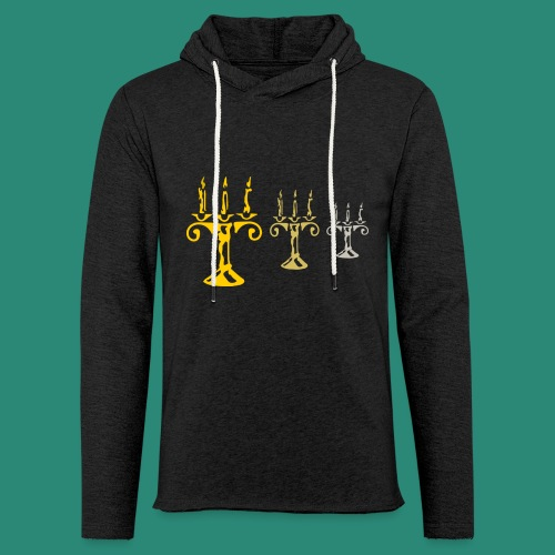 edles Kerzenlicht - Leichtes Kapuzensweatshirt Unisex