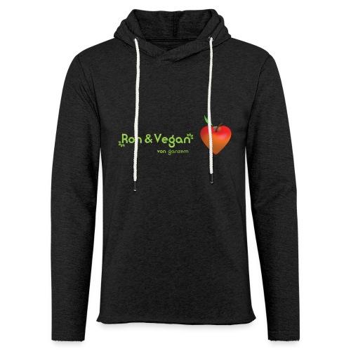 Roh & Vegan rotes Apfelherz (Rohkost) - Leichtes Kapuzensweatshirt Unisex