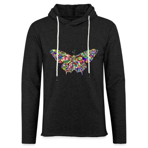 Geflogener Schmetterling - Leichtes Kapuzensweatshirt Unisex