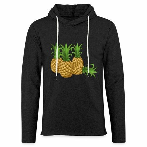 Ananas - Leichtes Kapuzensweatshirt Unisex