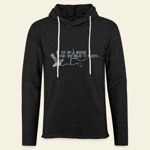 mjlner - Let sweatshirt med hætte, unisex