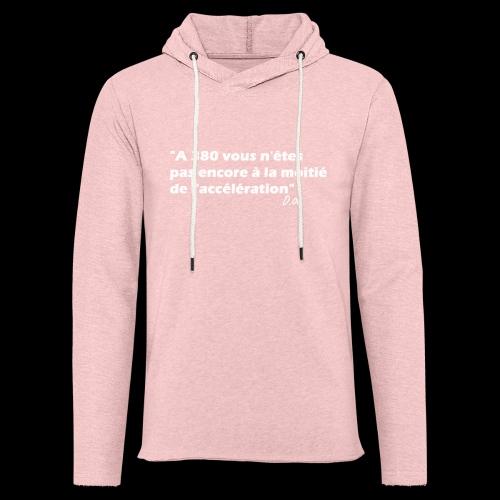 380 (blanc) - Sweat-shirt à capuche léger unisexe