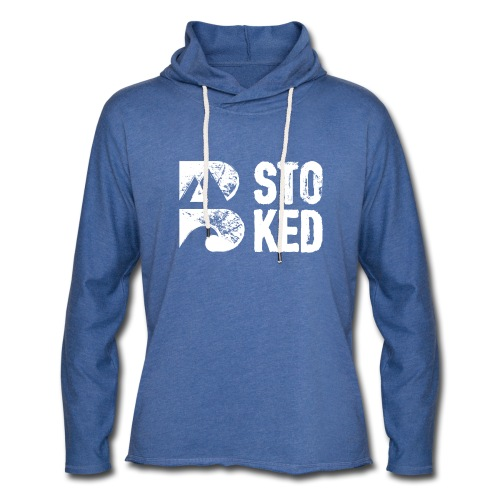 bstoked logo white - Light Unisex Sweatshirt Hoodie