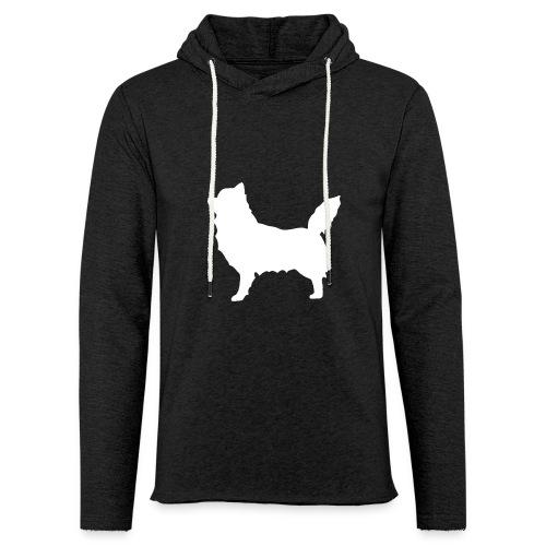 Chihuahua pitkakarva valkoinen - Kevyt unisex-huppari