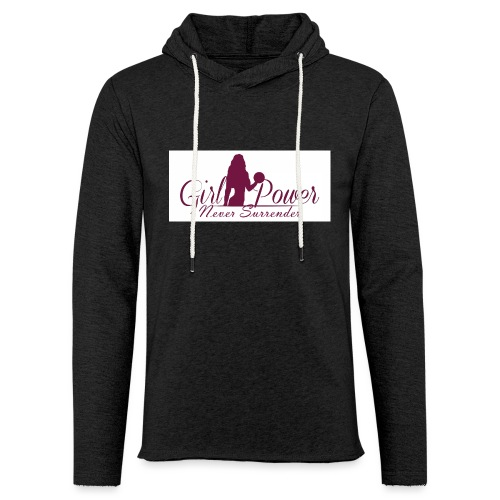 GIRL POWER NEVER SURRENDER - Sudadera ligera unisex con capucha