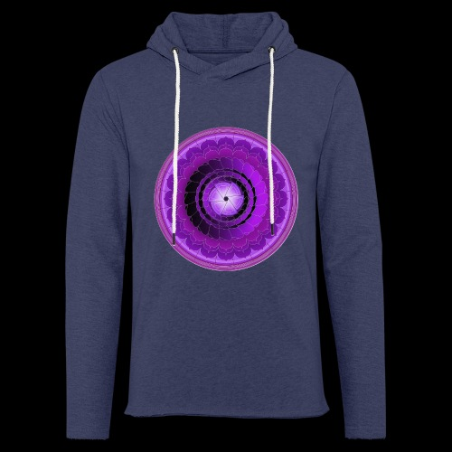 mandala 7 downsized png - Light Unisex Sweatshirt Hoodie