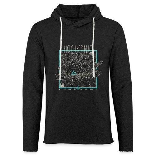 Hochkoenig Contour Lines - Square - Light Unisex Sweatshirt Hoodie