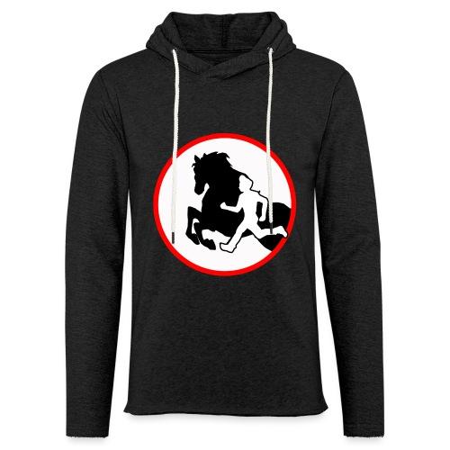 Horse Agility Logo - Leichtes Kapuzensweatshirt Unisex