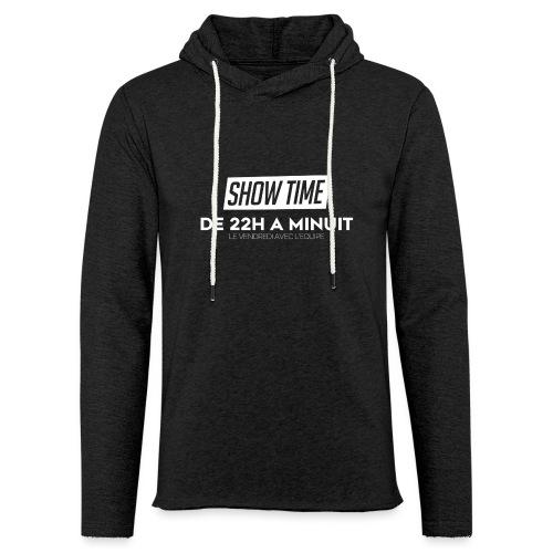 Logo ShowTime Blanc - Sweat-shirt à capuche léger unisexe