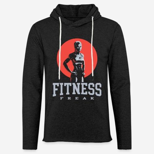 fitness freak gym - Leichtes Kapuzensweatshirt Unisex